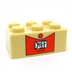 """Lego Accessoires Minifig CUSTOM BRICKS Caise vide Duff """"6 Pack"""" (Brique 2x6) (La Petite Brique)"""