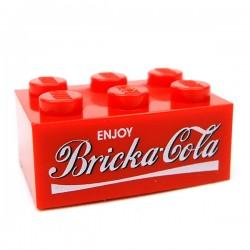 "Lego Accessoires Minifig CUSTOM BRICKS Caise vide Bricka-Cola ""6 Pack"" (Brique 2x6) (La Petite Brique)"