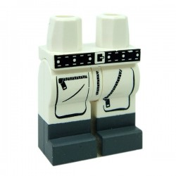 Lego Accessoires Minifig CUSTOM BRICKS Explorer Cargo Pants + Boots (Blanc) (La Petite Brique)