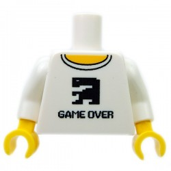 """Torso """"Game Over"""" (White)"""