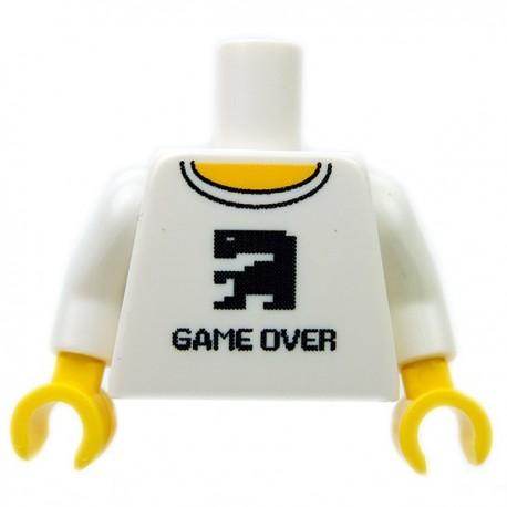 "Lego Accessoires Minifig CUSTOM BRICKS Torse ""Game Over"" (Blanc) (La Petite Brique)"