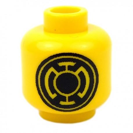 Lego Accessoires Minifig CUSTOM BRICKS Tête Lanterne (Jaune) (La Petite Brique)