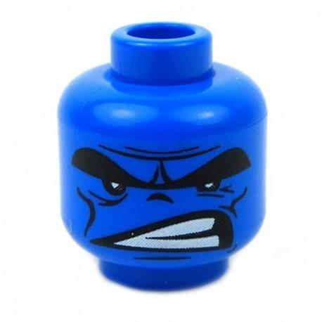 Lego Accessoires Minifig CUSTOM BRICKS Tête Hulk (Bleu) (La Petite Brique)