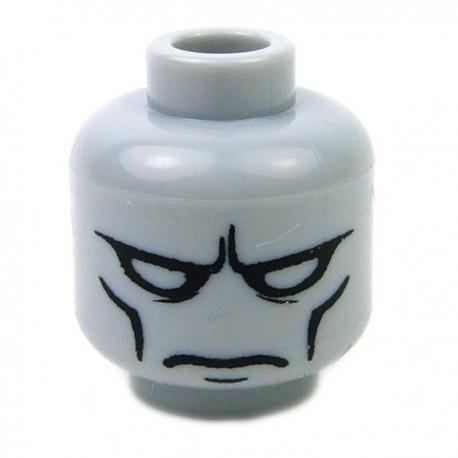 Lego Accessoires Minifig CUSTOM BRICKS Tête Iron Man (Light Bluish Gray) (La Petite Brique)