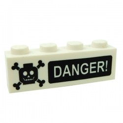 DANGER! Poison (Brick 1x4)