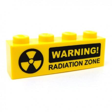 WARNING! Radiation (Brick 1x4)