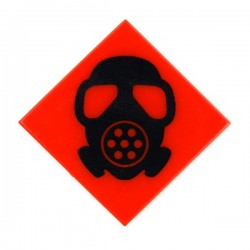 Gas Mask Black (Tile 2x2 - Red)