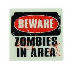 Zombies In Area (Tile 2x2 - White)