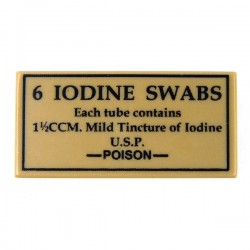 6 Iodine Swabs (Tile 1x2 - Dark Tan)