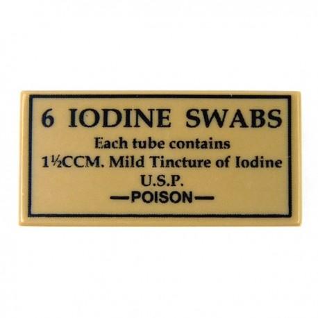 Lego Accessoires Minifig CUSTOM BRICKS 6 Iodine Swabs (Tile 1x2 - Beige foncé) (La Petite Brique)