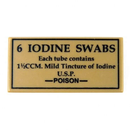 6 Iodine Swabs (Tile 1x2 - Dark Tan)
