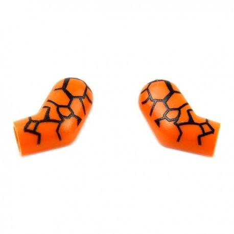 """Lego Accessoires Minifig CUSTOM BRICKS Paire de bras """"La Chose"""" (Orange) (La Petite Brique)"""