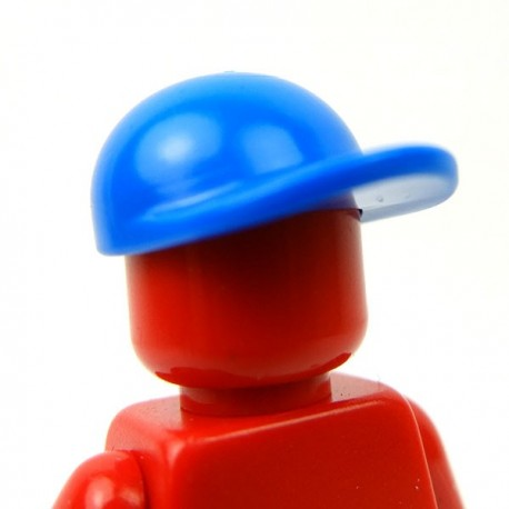 Blue Headgear Cap, Long Flat Bill