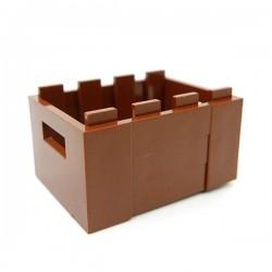 Lego Accessoires Minifig Caisse Rangement 3x4 (Reddish Brown) (La Petite Brique)