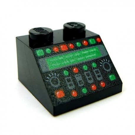 Control Panel with Red and Green Lamps