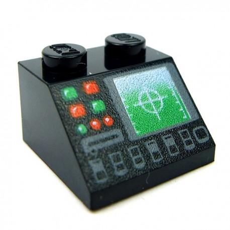 Lego Accessoires Minifig Contrôle Radar (Noir) (La Petite Brique)