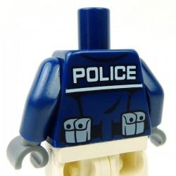 Lego Accessoires Minifig Torse - Police (Dark Blue) (La Petite Brique)