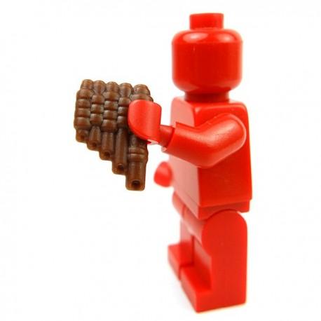 Lego Accessoires Minifig Custom BRICK WARRIORS Flûte (marron) (La Petite Brique)