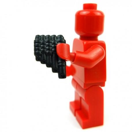 Lego Accessoires Minifig Custom BRICK WARRIORS Flûte (Noir) (La Petite Brique)