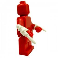 Lego Accessoires Minifig Custom BRICK WARRIORS Hidden Blade (Blanc - pair) (La Petite Brique)