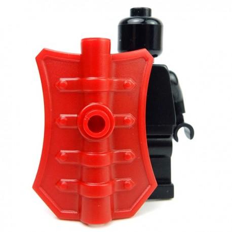 Lego Accessoires Minifig Custom BRICK WARRIORS Bouclier Pavise (Dark Red) (La Petite Brique)