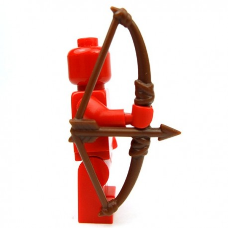 Lego Accessoires Minifig Custom BRICK WARRIORS English Longbow (Marron) (La Petite Brique)