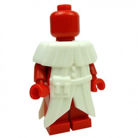 Lego Accessoires Minifig Custom BRICK WARRIORS Plague Doctor Coat (Blanc) (La Petite Brique)