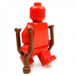Lego Accessoires Minifig Custom BRICK WARRIORS Bequilles (pair - marron) (La Petite Brique)