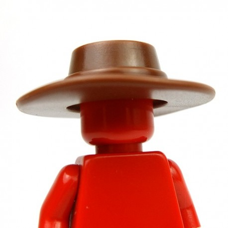 Lego Accessoires Minifig Custom BRICK WARRIORS Plague Doctor Hat (Marron) (La Petite Brique)