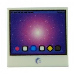 Lego Accessoires Minifig Custom EclipseGrafx Ecran Ordinateur (Tile 2x2 - Blanc) (La Petite Brique)
