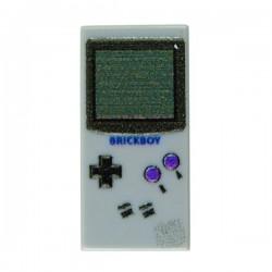 Lego Accessoires Minifig Custom EclipseGrafx Game Boy Classic (Light Bluish Gray - Tile 1x2) (La Petite Brique)