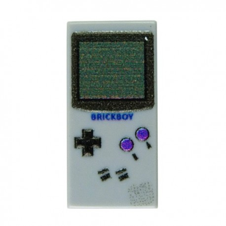 Lego Accessoires Minifig Custom EclipseGrafx Game Boy Classic (Light Bluish Gray - Tile 1x2) (La Petite Brique)