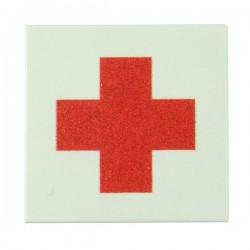 Lego Accessoires Minifig Custom EclipseGrafx Croix Rouge (Tile 2x2 - Blanc) (La Petite Brique)