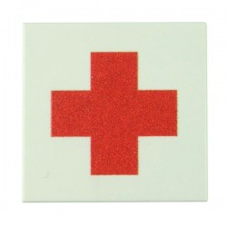 Red Cross (Tile 2x2 - White)