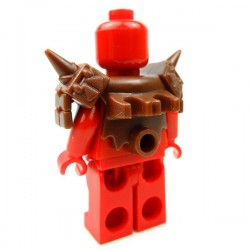 Lego Accessoires Minifig Custom BRICK WARRIORS Armure Lizardman (Marron) (La Petite Brique)