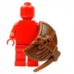 Lego Accessoires Minifig Custom BRICK WARRIORS Bouclier Lizardman (Marron) (La Petite Brique)