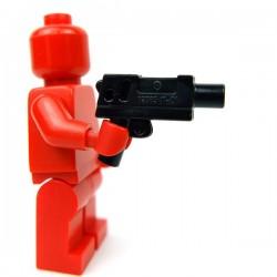 Lego Accessoires Minifig Pistol Automatic Medium Barrel (Noir) (Cuivre) (La Petite Brique)