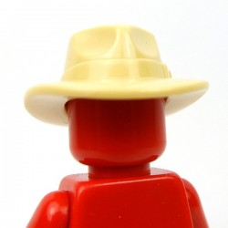Lego Accessoires Minifig Fedora (Beige) (La Petite Brique)