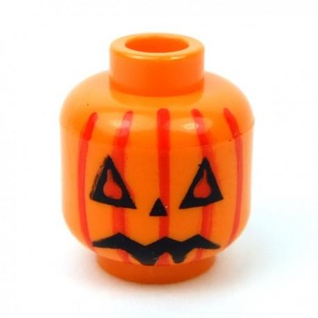 Orange Head Pumpkin Jack O' Lantern