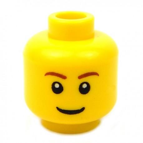 Lego Accessoires Minifig Tête masculine jaune, 52 (La Petite Brique)