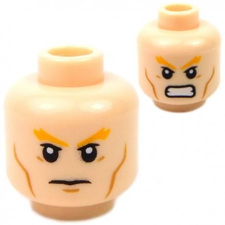 Lego Accessoires Minifig Tête masculine, chair, 43 (double visage) (La Petite Brique)