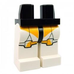 Lego Accessoires Minifig Jambes - Clone Trooper Marquages Oranges (Star Wars) (La Petite Brique)