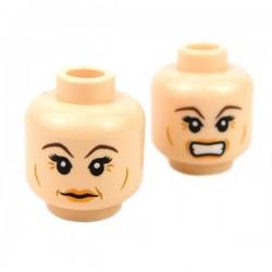 Lego Accessoires Minifig Tête féminine chair 07 (double visage) (La Petite Brique)