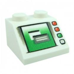 Lego Accessoires Minifig Ecran Ordinateur (Blanc) (La Petite Brique)