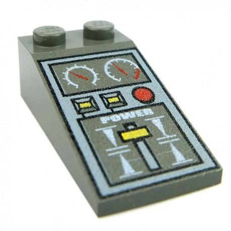 Train Controls, Slope 18 4 x 2 (Dark Gray)