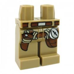 Lego Accessoires Minifig Jambes - avec holster et boussole (Dark Tan) (La Petite Brique)