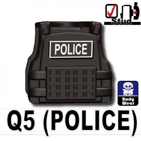 Tactical Vest Q5 Police (Dark Black)