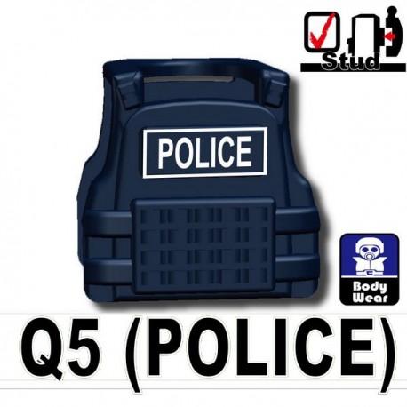 Lego Accessoires Minifig Si-Dan Toys Tactical Vest Q5 Police (Dark Black) (La Petite Brique)