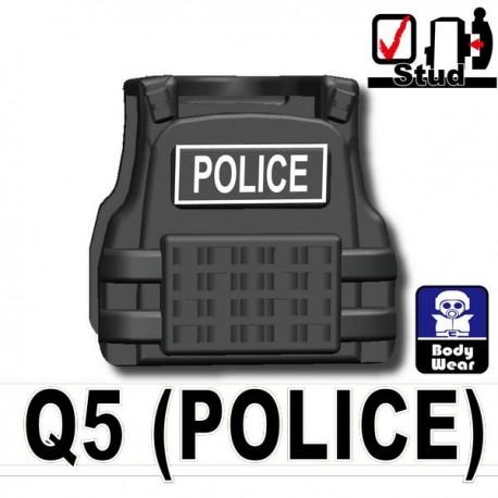 Lego Accessoires Minifig Si-Dan Toys Tactical Vest Q5 Police (Iron Black) (La Petite Brique)