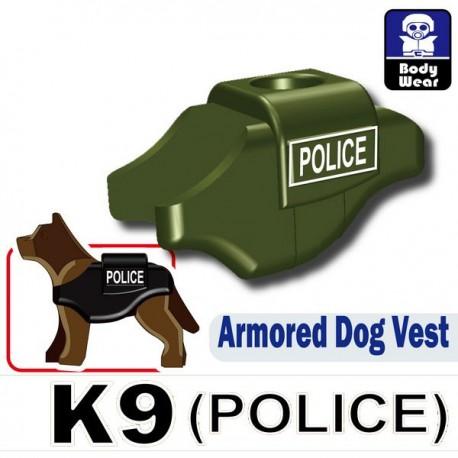 Lego Accessoires Minifig Si-Dan Toys Armored Dog Vest (K9) (POLICE Vert Militaire) (La Petite Brique)